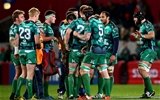 Connacht skipper John Muldoon looks for composure from his team-mates as they try to see out the province's first ever competitive victory at Thomoond Park Credit: ©INPHO/James Crombie