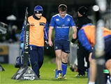 Young Leinster scrum half Luke McGrath had to go off with an injury on the half hour mark Credit: ©INPHO/Dan Sheridan