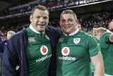 Tighthead Mike Ross and his replacement Tadhg Furlong were both beaming with pride afterwards Credit: ©INPHO/Billy Stickland