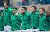 Devin Toner, CJ Stander, Conor Murray, Robbie Henshaw and Paddy Jackson line up for 'Ireland's Call' Credit: ©INPHO/Billy Stickland