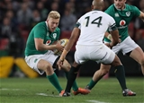 Stuart Olding, who combined with Robbie Henshaw in a new centre pairing, tries to get past South African winger JP Pietersen Credit: ©INPHO/Billy Stickland