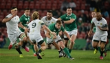 Craig Gilroy gets a chance to stretch his legs and test the South African defence during the closing stages of the first half Credit: ©SPORTSFILE/Brendan Moran