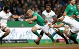 Stuart Olding, who featured in an all-Ulster centre pairing, is pictured on the move against the Springboks Credit: ©INPHO/Billy Stickland
