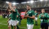 Devin Toner, Iain Henderson, Ultan Dillane and Craig Gilroy thanks the fans for their support in Port Elizabeth Credit: ©SPORTSFILE/Brendan Moran
