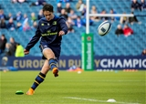 20-year-old Academy out-half Joey Carbery practises his kicking before the match Credit:  ©INPHO/Gary Carr
