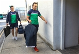 Young forwards James Connolly and Ultan Dillane arrive at the Sportsground for Connacht's European Champions Cup opener Credit: ©INPHO/Billy Stickland