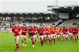 Ulster captain Andrew Trimble leads the players off after their warm-up for their opening Pool 5 clash with Bordeaux-Begles Credit: ©SPORTSFILE/Ramsey Cardy