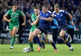 Leinster hooker Sean Cronin, who has Connacht's Jack Carty for company, tries to dribble the ball forward Credit: ©INPHO/Dan Sheridan