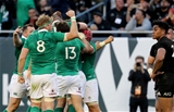 Jamie Heaslip raises his arm in celebration after Robbie Henshaw's try gave Ireland some much-needed breathing space late on Credit: ©INPHO/Dan Sheridan