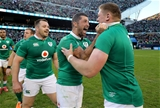 Rob Kearney, who had a terrific game at full-back, shows what beating the All Blacks means to him Credit: ©INPHO/Dan Sheridan