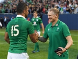Ireland head coach Joe Schmidt celebrates with Rob Kearney, who was a key cog in the winners' back-line Credit: ©INPHO/Photosport/Andrew Cornaga