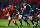 Guinness PRO12, Irish Independent Park, Cork 4/11/2016Munster vs OspreysMunster's Stephen Archer is tackled by Olly Cracknell of OspreysMandatory Credit ©INPHO/Cathal Noonan