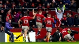 Rugby Friendly,  Thomond Park, Limerick 11/11/2016Munster vs Maori All BlacksMunster players celebrate after Darren Sweetnam scores his side's third tryMandatory Credit ©INPHO/James Crombie