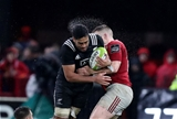 Rugby Friendly,  Thomond Park, Limerick 11/11/2016Munster vs Maori All BlacksMaori All Blacks Akira Ioane is tackled by Munsters Rory ScannellMandatory Credit ©INPHO/Billy Stickland