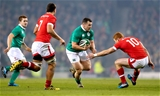Prop Cian Healy, who was winning his 60th Ireland cap, takes on Canada's Connor Braid Credit: ©INPHO/James Crombie