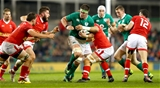 Ireland's new second row Billy Holland tests out Admir Cejvanovic's defence at close quarters Credit: ©INPHO/James Crombie