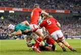 Kerry man Ultan Dillane nreaks through to score Ireland's fifth try of the night Credit: ©INPHO/James Crombie