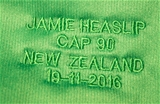A close-up view of number 8 Jamie Heaslip's jersey on the occasion of his 90th Ireland cap Credit: ©INPHO/Dan Sheridan