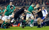 Ireland vice-captain Jamie Heaslip is closed down by New Zealand flanker Liam Squire Credit: ©INPHO/James Crombie