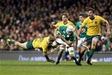 Guinness Series, Aviva Stadium, Dublin 26/11/2016Ireland vs Australia Ireland's Ultan Dillane tackled by Reece Hodge of AustraliaMandatory Credit ©INPHO/Dan Sheridan