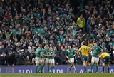 Guinness Series, Aviva Stadium, Dublin 26/11/2016Ireland vs Australia Irelands Keith Earls is congratulated by Garry Ringrose and Josh Van der FlierMandatory Credit ©INPHO/Colm ONeill