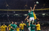 Guinness Series, Aviva Stadium, Dublin 26/11/2016Ireland vs Australia Irelands Ultan Dillane and Lopeti Timani of AustraliaMandatory Credit ©INPHO/James Crombie