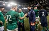 Guinness Series, Aviva Stadium, Dublin 26/11/2016Ireland vs Australia Irelands Garry Ringrose celebrates with Andy FarrellMandatory Credit ©INPHO/James Crombie