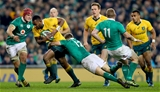 Guinness Series, Aviva Stadium, Dublin 26/11/2016Ireland vs Australia Australia's Tevita Kuridrani tackled by Josh van der Flier and Garry Ringrose of IrelandMandatory Credit ©INPHO/James Crombie