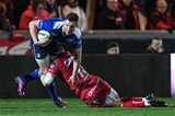 Leinster centre Rory O'Loughlin, who partnered Noel Reid in midfield, is tackled by the Scarlets' Steff Hughes Credit: ©INPHO/Craig Thomas