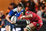 Young out-half Ross Byrne grew in influence for Leinster in the second half, having a hand in a couple of tries for Adam Byrne and replacement Tom Daly Credit: ©INPHO/Craig Thomas