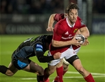 Winger Darren Sweetnam leads an attack for Rassie Erasmus' men, with Lee Jones on defensive duty for Glasgow Credit: ©INPHO/Craig Watson