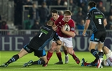 Munster tightead John Ryan barges into fellow prop Gordon Reid during the first half Credit: ©SPORTSFILE/Paul Devlin