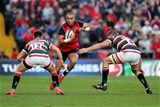 Munster full-back Simon Zebo is closed down by Leicester duo Owen Williams and Ed Slater Credit: ©INPHO/Dan Sheridan