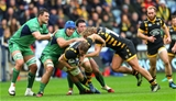 Connacht forwards Quinn Roux, Nepia Fox-Matamua and Denis Buckley swarm over Wasps' Thomas Young Credit: ©INPHO/James Crombie