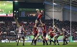 European Rugby Champions Round 4, Welford Road Stadium, Leicester, England 17/12/2016Leicester Tigers vs MunsterMunsterÕs Tommy O'Donnell claims the lineoutMandatory Credit ©INPHO/Billy Stickland