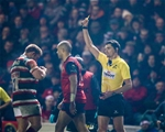 European Rugby Champions Round 4, Welford Road Stadium, Leicester, England 17/12/2016Leicester Tigers vs MunsterMunsterÕs Simon Zebo gets a yellow card from referee Pascal GauzereMandatory Credit ©INPHO/Billy Stickland