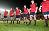 European Rugby Champions Round 4, Welford Road Stadium, Leicester, England 17/12/2016Leicester Tigers vs MunsterMunsterÕs Niall Scannell, CJ Stander, James Cronin, Jaco Taute and Donnacha Ryan dejected after the gameMandatory Credit ©INPHO/Billy Stickland