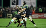 European Rugby Champions Round 4, Sportsground, Galway 17/12/2016Connacht vs WaspsConnacht's Ultan Dillane and John Muldoon with Thomas Young of WaspsMandatory Credit ©INPHO/Morgan Treacy