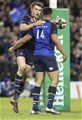 European Rugby Champions Round 4, Aviva Stadium, Dublin 17/12/2016Leinster vs Northampton SaintsLeinsters Adam Byrne is congratulated by Garry RingroseMandatory Credit ©INPHO/Ken Sutton