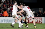 Guinness PRO12, Kingspan Stadium, Belfast 23/12/2016Ulster vs ConnachtUlster's Iain Henderson and Clive Ross with Quinn Roux of ConnachtMandatory Credit ©INPHO/Morgan Treacy
