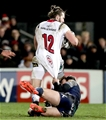 Guinness PRO12, Kingspan Stadium, Belfast 23/12/2016Ulster vs ConnachtUlster's Stuart McCloskey with Danie Poolman of ConnachtMandatory Credit ©INPHO/Morgan Treacy