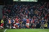 Guinness PRO12, Thomond Park, Limerick 26/12/2016Munster vs LeinsterMunster fans celebrate as CJ Stander scores a tryMandatory Credit ©INPHO/Gary Carr