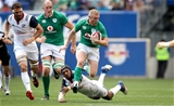 2017 Summer Tour, Red Bull Arena, New Jersey, USA 10/6/2017USA vs IrelandUSA's Marcel Brache and Keith Earls of IrelandMandatory Credit ©INPHO/Ryan Byrne
