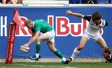 2017 Summer Tour, Red Bull Arena, New Jersey, USA 10/6/2017USA vs IrelandIreland's Keith Earls scores their third try of the game Mandatory Credit ©INPHO/Ryan Byrne