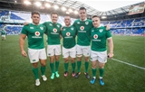 2017 Summer Tour, Red Bull Arena, New Jersey, USA 10/6/2017USA vs IrelandIreland new caps Dave Heffernan, Jacob Stockade, Andrew Porter, James Ryan and Rory Scannell after the game Mandatory Credit ©INPHO/Ryan Byrne