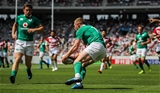 2017 Summer Tour 2nd Test, Ajinomoto Stadium, Chofu, Tokyo, Japan 17/6/2017Japan vs IrelandIreland's Keith Earls scores the first try of the game Mandatory Credit ©INPHO/Ryan Byrne
