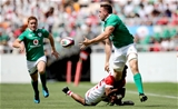2017 Summer Tour 2nd Test, Ajinomoto Stadium, Chofu, Tokyo, Japan 17/6/2017Japan vs IrelandJapan's Kotaro Matshima and Jack Conan of IrelandMandatory Credit ©INPHO/Ryan Byrne
