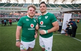 2017 Summer Tour 2nd Test, Ajinomoto Stadium, Chofu, Tokyo, Japan 17/6/2017Japan vs IrelandIreland's Finlay Bealham and Quinn Roux after the game Mandatory Credit ©INPHO/Ryan Byrne