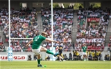 2017 Summer Tour 2nd Test, Ajinomoto Stadium, Chofu, Tokyo, Japan 17/6/2017Japan vs IrelandIreland's Rory Scannell kicks a conversion Mandatory Credit ©INPHO/Ryan Byrne