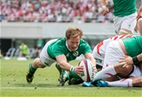 2017 Summer Tour 3rd Test, Ajinomoto Stadium, Chofu, Tokyo 24/6/2017Japan vs IrelandIreland's Kieran Marmion scores the third try of the game  Mandatory Credit ©INPHO/Ryan Byrne